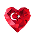 jewelry Turkish heart with the flag of the vector image