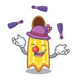 juggling swim fin mascot cartoon vector image