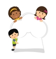 kids nutrition design vector image vector image