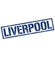 liverpool blue square stamp vector image vector image