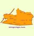 map kaliningrad region russia vector image
