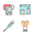 medical devices color icons set vector image vector image