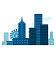 Modern city with scyscrapers City landscape Flat vector image vector image