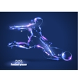 Motion design Football player kick a ball Blur vector image vector image