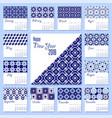 new year 2018 blue mosaic tile calendar template vector image