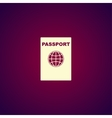 Passport icon concept for vector image vector image