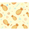pastel color pattern with pineapples on y vector image vector image