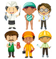 People doing different occupations vector image vector image