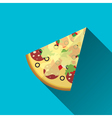 piece of Pizza flat design vector image