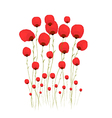Pretty red flower watercolour vector image vector image