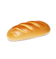 realistic bread isolated bakery icon vector image vector image