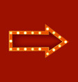 realistic detailed 3d glowing sign arrow vector image