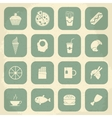 Retro Food Icons vector image