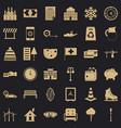 rich villa icons set simple style vector image vector image