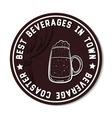Round Beverage Coaster White vector image vector image