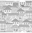 seamless texture with cozy cityscape for coloring vector image vector image