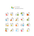 set line icons oils vector image
