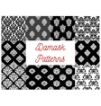 Set of damask seamless patterns vector image vector image