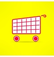shopping cart bright symbol Marketing vector image