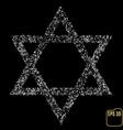 silver star of david silver stars confetti concept vector image