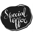 special offer lettering tag vector image vector image