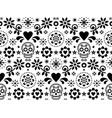 sugar skull seamless pattern - mexican vector image vector image