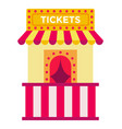 ticket booth icon flat isolated vector image