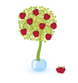 tree with red apples vector image vector image
