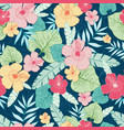 tropical summer hawaiian seamless pattern vector image vector image