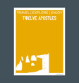 twelve apostles victoria australia monument vector image vector image