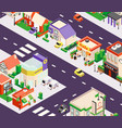 urban buildings isometric composition vector image vector image