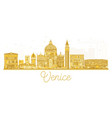 venice italy city skyline golden silhouette vector image vector image
