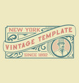 vintage template for packaging and branding vector image