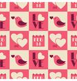 vintage valentine seamless pattern vector image