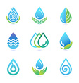 water and oil logo design elements vector image vector image