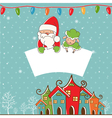 Winter landscape with Christmas motifs vector image vector image