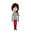 woman character female standing avatar people vector image