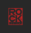 Word rock poster musical grunge mockup t-shirt vector image