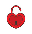 red valentine love padlock graphic vector image