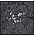 Summertime Handwritten phrase on an abstract vector image