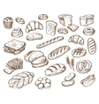bread on white background vector image