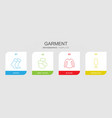 4 garment icons vector image vector image