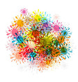 Abstract Background - Colorful Splashes Blots vector image vector image