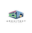 abstract building logo design templatemodern arch vector image