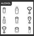 alcohol outline isometric icons vector image vector image