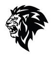 angry lion head roaring logo mascot vector image vector image