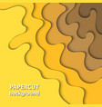 background with yellow gradient color paper cut vector image vector image