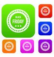black friday sticker set collection vector image vector image