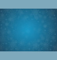 blue cover banner or background with snowflakes vector image vector image