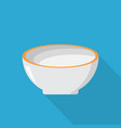bowl icon set of great flat icons with style vector image